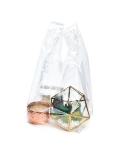 Clear poly take out bag
