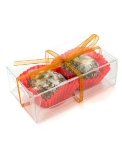 """2 1/8"""" x 1 1/4"""" x 3 5/8"""" Auto Lock Bottom Archival/Food Safe Box, Business Card Size (25 Pieces) [FPLB188]"""