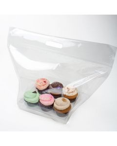 cupcake bag zip handle bag set for 6