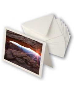 "A7 7"" x 5"" Entradalopes Photo Blank Cards and Envelopes, Bright White (25 Pieces) [PD00E]"