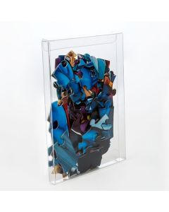 Clear Box with puzzle pieces