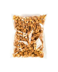 Flat crinkle bag with popcorn
