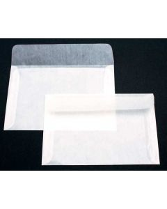 "6 1/4"" x 4 1/8"" Glassine Open Side 2 Side Seams (100 Pieces) [G22]"