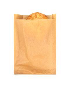 "6 3/4"" x 1 1/8"" x 9"" Kraft Greaseproof Bags (100 Pieces) [GPB6K]"