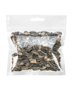 Sunflower Seeds in Hanging Zipper Bag with Euro Hole