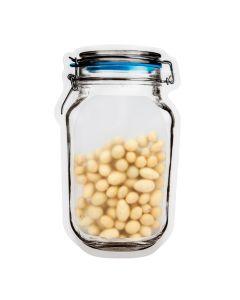 "5 7/8"" x 2 5/8"" x 9 9/16"" (Outer Dims) Clamp Lid Jar Shaped Pouch (100 Pieces) [JARLG]"