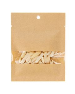 Food safe kraft heat seal bag with nuts