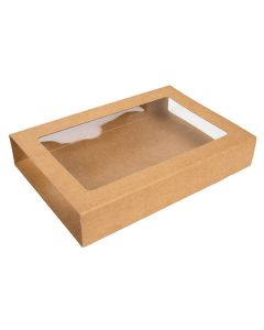 "4 1/16"" x 1 1/16"" x 6 1/8"" Kraft Slip Cover (25 Pieces) [KR23]"
