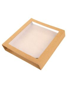 "5 15/16"" x 1 1/16"" x 6 1/8"" Kraft Slip Cover (25 Pieces) [KR33]"