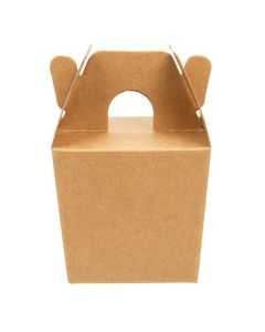 "2 3/8"" x 2"" x 2 1/8"" kraft mini take out box"