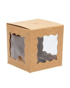 "2"" kraft window box for cake pops"