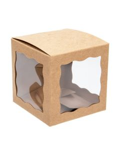 "3"" kraft window box"