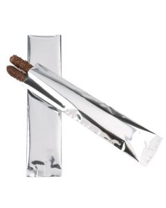 Metallic silver flat bags