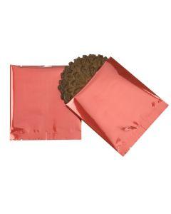 Metallic red flat bags