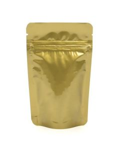 "3 1/8"" x 2"" x 5 1/8"" Gold Metallized Zipper Pouch Bags"