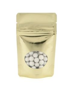 Shimmer gold metallized food safe pouch