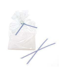 Twist ties on packaging