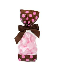 Brown with Pink Polka Dots Cello Bag