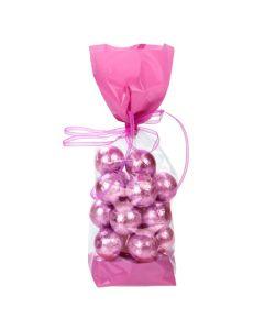 Pink Banded Side Gusset Cello Bag