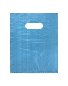 "8"" x 10"" HDPE Blue Handle Bag (100 Pieces) [H810BL3]"