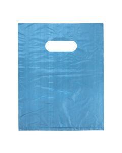 """12"""" x 15"""" Blue Handle Bag 0.7 Mil HDPE (100 Pieces) [H1215BL3]"""