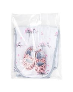 """12"""" x 15"""" Clear Handle Bag 2.25 Mil, 20% Recycled Content (100 Pieces) [H1215CL1R]"""