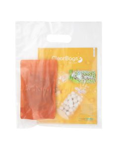 """12"""" x 15"""" Frosted Handle Bag 2.25 Mil, 20% Recycled Content (100 Pieces) [H1215FT1R]"""