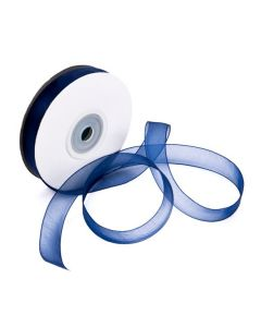 "5/8"" Wide Navy Mono Ribbon"