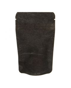 "3 1/8"" x  2"" x 5 1/8"" (Outer Dims) Solid Black Rice Paper Stand Up Pouches (100 Pieces) [ZBGR1SB]"