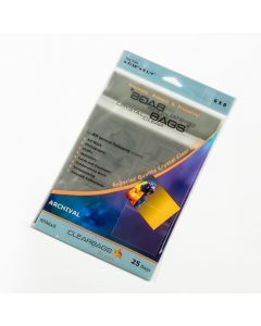 "6 7/16"" x 8 1/4"" Crystal Clear Bags® Protective Closure Retail Pack of 25 (1 Pack) [RPA6X8]"