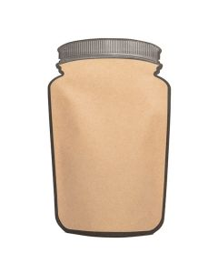 5 1/8 x 8 1/8 mason jar shaped pouch