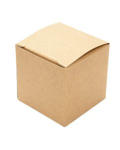 "2"" x 2"" x 2"" Kraft Pop & Lock Box (25 Pieces) [PLB104K]"