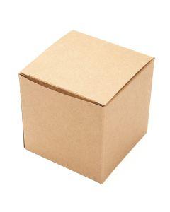 "3"" x 3"" x 3"" Kraft Pop & Lock Box (25 Pieces) [PLB58K]"