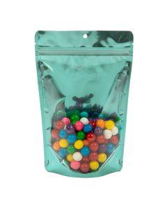 "5 7/8"" x 3 1/2"" x 9 1/8"" (Outer Dims) Bright Teal Stand Up Pouch with Hang Hole (100 Pieces) [ZBGB7TL]"