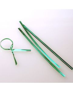 """4"""" x 5/32"""" Green Metallic Plastic Twist Tie (1000 pack) [TT4MGR]"""
