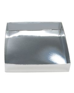 5 1/8 x 1 x 5 1/4 silver box bottom