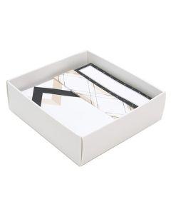 """Matte white box bottom 3 1/8"""" x 1"""" x 3 1/4"""""""