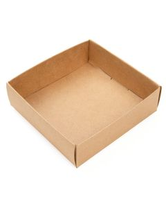 3 1/8 x 1 x 3 1/4 kraft box bottom