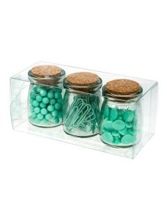 "3"" x 3"" x 7"" Crystal Clear Value Boxes (50 Pieces) [VB300]"