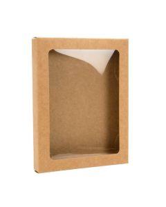 """4 1/2"""" x 5/8"""" x 5 7/8"""" Kraft paper box"""