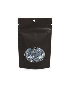 Kraft black zipper pouch