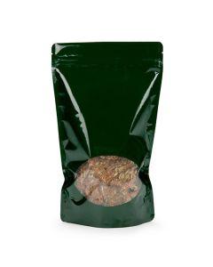 Metallized bag with oval window