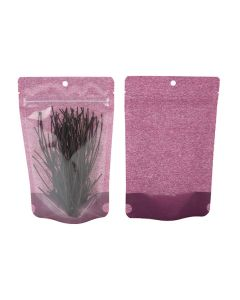Food safe harvest purple rice paper zipper bag