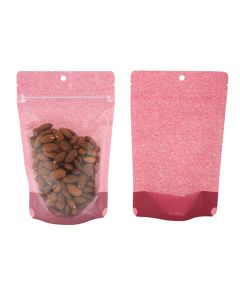 front and rear view of harvest cranberry stand up pouch
