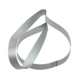 "10"" Silver Vinyl Stretch Loop (50 Pieces) [10CVLSV] -"