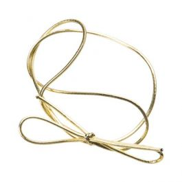 "16"" Metallic Gold Stretch Loop (50 Pieces) [16MG]"