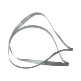 "20"" Silver Vinyl Stretch Loop (50 Pieces) [20CVLSV]"