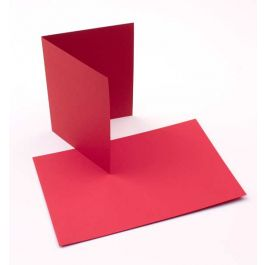 """A2 5 1/2"""" x 4 1/4"""" Basis Blank Card Red (50 Pieces) [PC218]"""