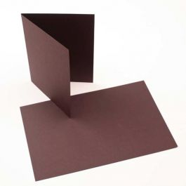 "A7 7"" x 4 7/8"" Basis Blank Card, Brown (50 Pieces) [PC012]"
