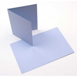 "A2 5 1/2"" x 4 1/4"" Basis Blank Card, Light-Blue (50 Pieces) [PC203]"